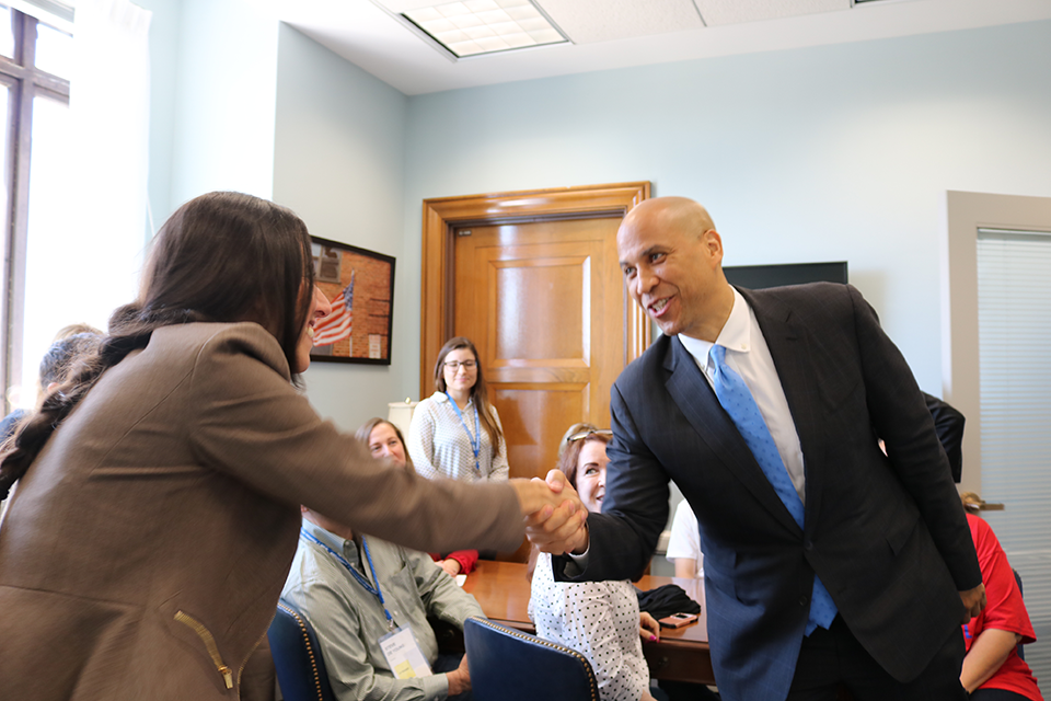 U.S. Senator Cory Booker Meets Arizona House Rep. Athena Salman