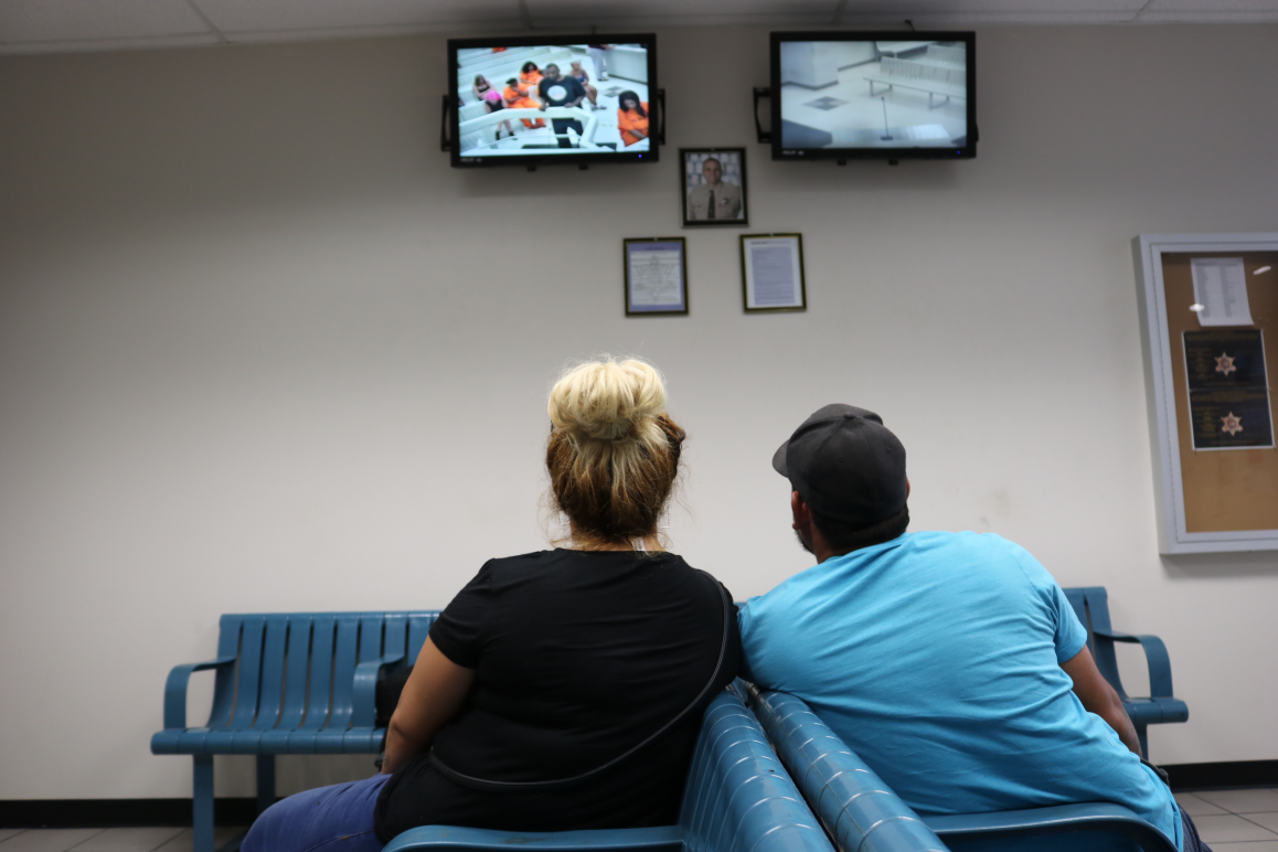 Families watch bail hearings at Fourth Avenue Jail