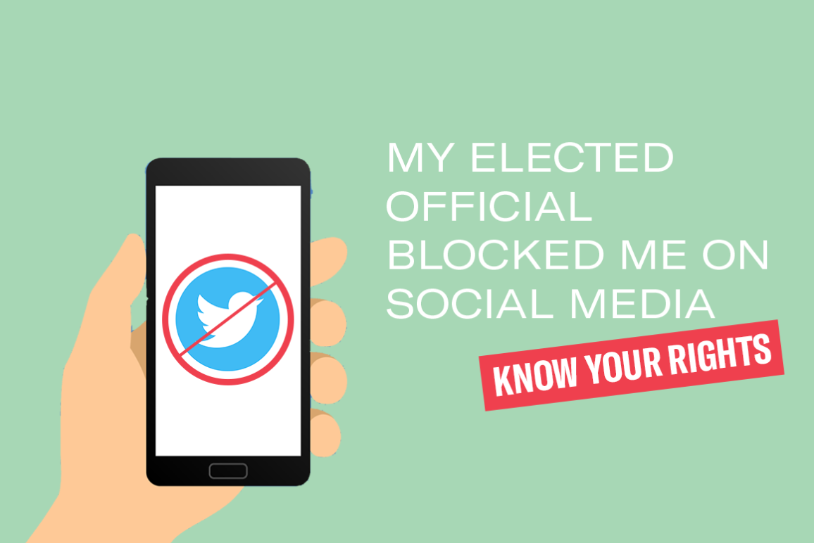 my elected official blocked me on social media