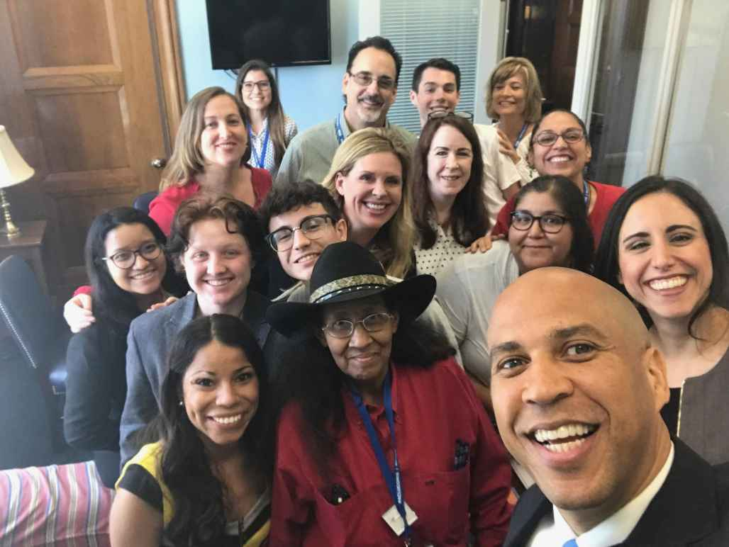 ACLU members meet with Sen Cory Booker