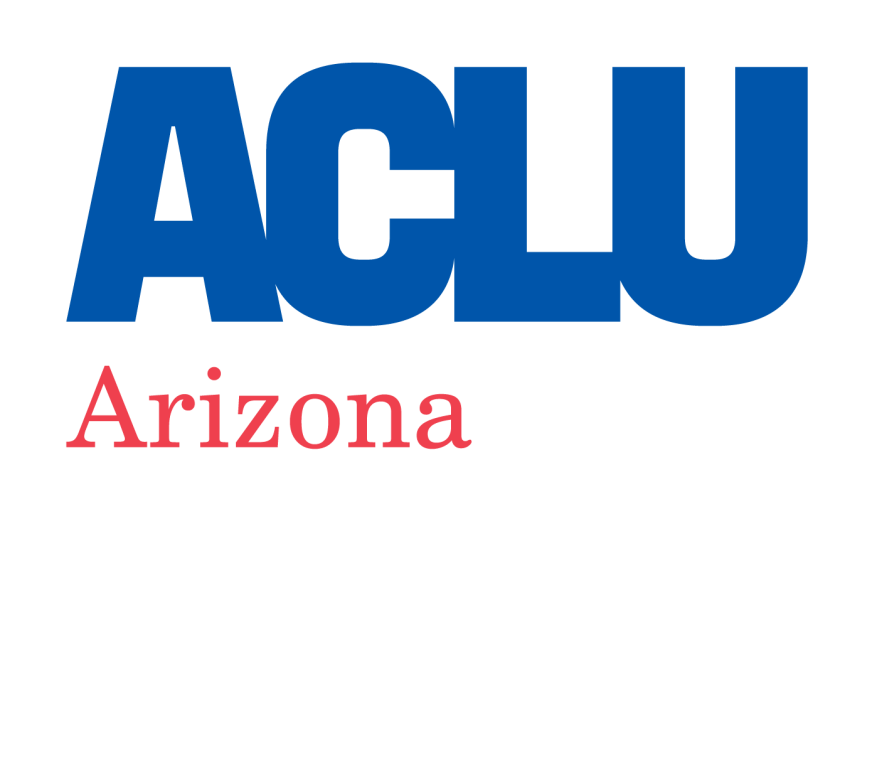 ACLU of Arizona Standard Logo Red Blue