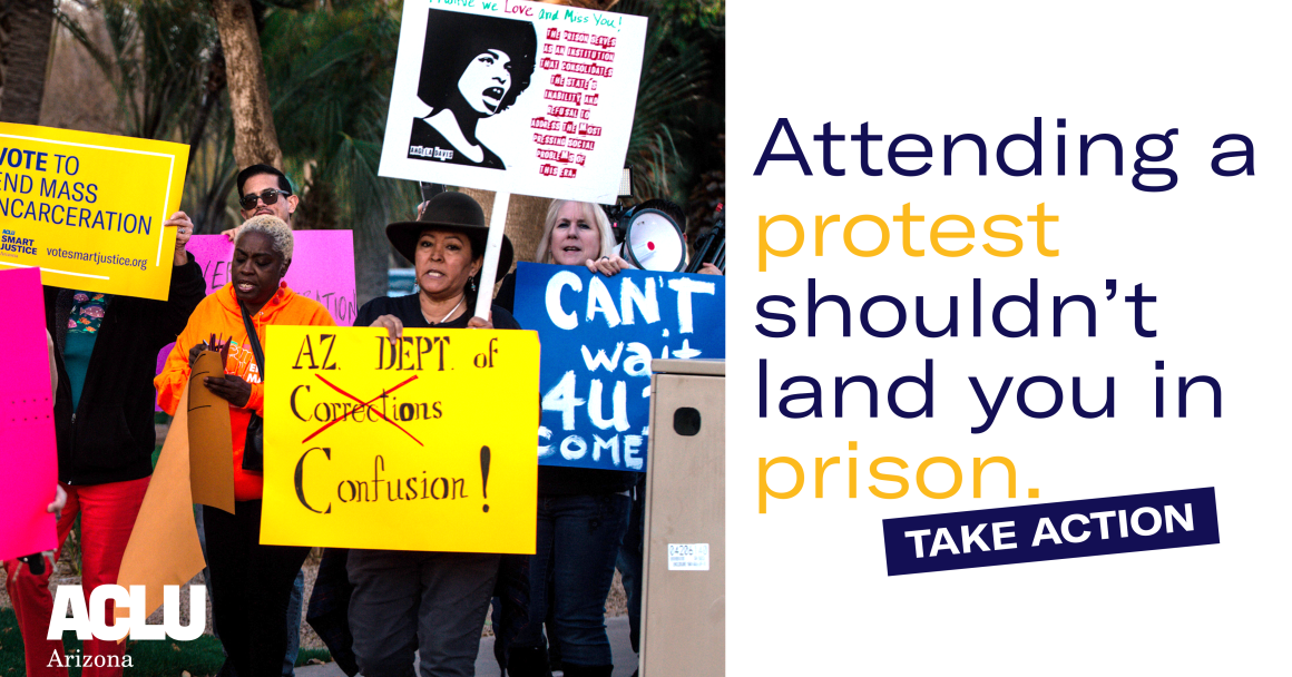 Attending A Protest Shouldn't Land You in Jail. Reject HB2309.