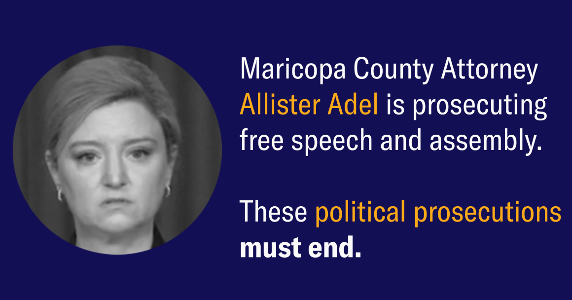 Political prosecutions must end